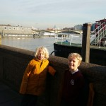 Us standing on the river Thames